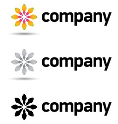 corporate logo design template vector image