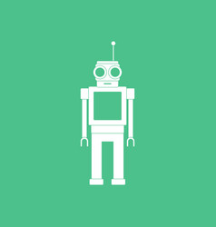 Icon on background robot toy with antenna vector