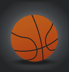 isolated realistic basketball design on gray vector image vector image