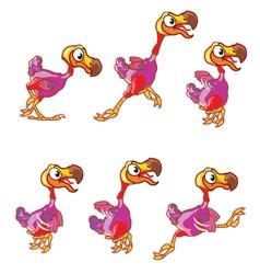 Jumping Dodo Animation Sprite vector image vector image