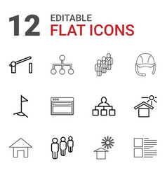 12 site icons vector
