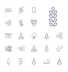 22 tree icons vector