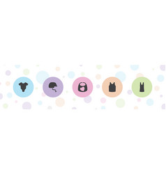 5 wear icons vector