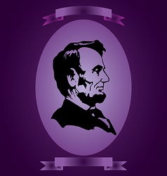 Abraham Lincoln abstraction vector image