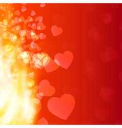 Abstract background flame and hearts vector