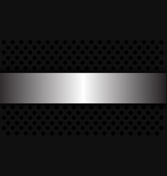Abstract background silver banner overlap on dark vector