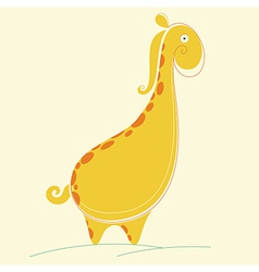 Abstract Giraffe vector image