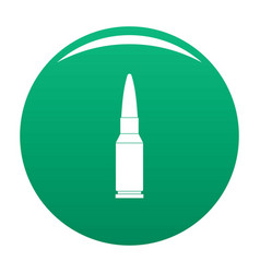 Big bullet icon green vector
