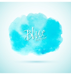 Blue watercolor splash design element vector image