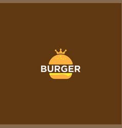 Burger logo design template vector