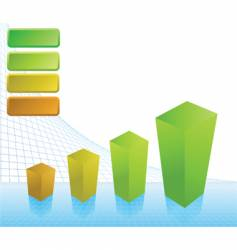 business profit chart vector image
