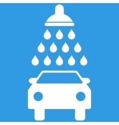 Car Shower Flat Symbol vector