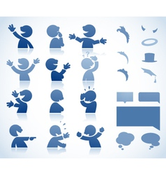 Character in various postures vector image