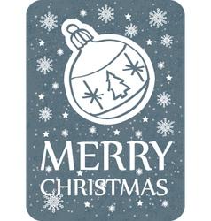 christmas greeting card vintage dark vector image