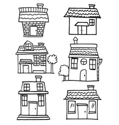 collection of house set various vector image
