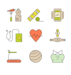 Colorful Fitness Icons vector