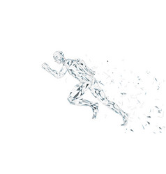 Conceptual abstract running man runner with vector