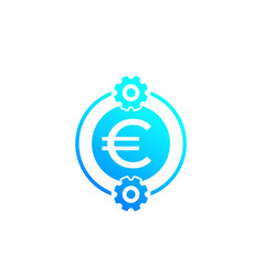 Cost optimization efficiency icon with euro vector