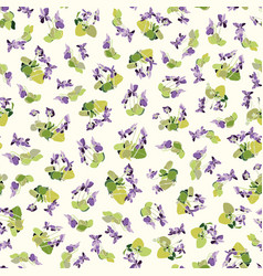 Cream pattern with viola vector