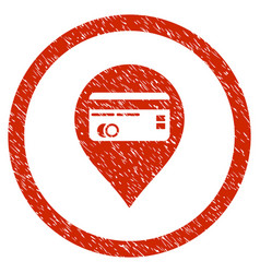Credit card pointer rounded grainy icon vector