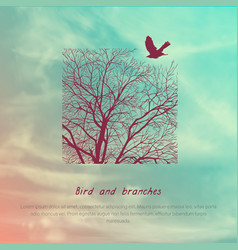 crows and tree banner vector image