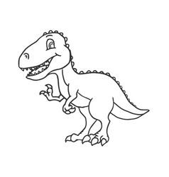 Cute cartoon dinosaur - t-rex tyrannosaurus rex vector