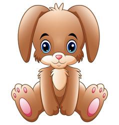 cute little bunny cartoon sitting vector image