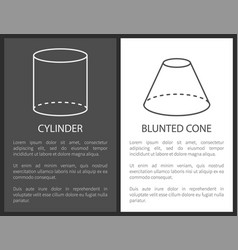 Cylinder and blunted cone geometric shapes simple vector