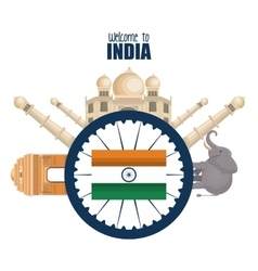 day independence india country design vector image
