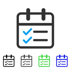 Day tasks flat icon vector
