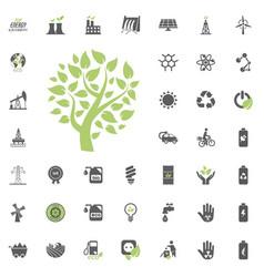eco tree icon eco and alternative energy vector image