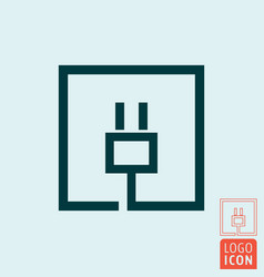 Electric plug icon electrical cable charge vector