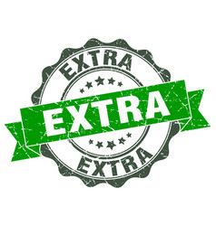 extra stamp sign seal vector image