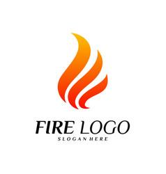 fire logo design concepts flame logo template vector image