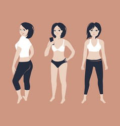 fit young woman posing vector image