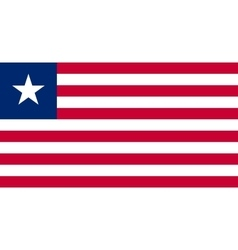 Flag of Liberia in correct proportions and colors vector image
