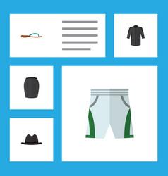 Flat icon garment set uniform trunks cloth vector