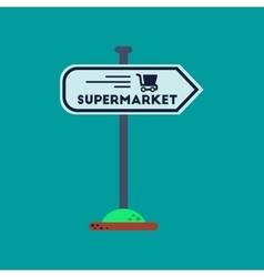 flat icon on background supermarket sign vector image