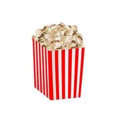 Fresh popcorn box mockup realistic style vector