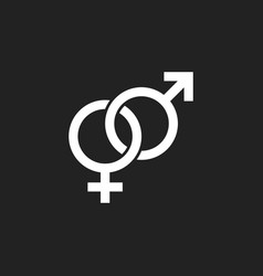 Gender sign icon men and woomen concept icon vector