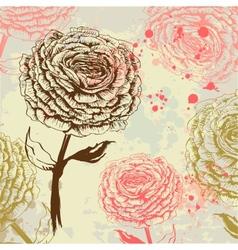 Grungy rose background vector image