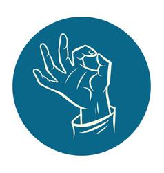 hand ok okay gesture vector image