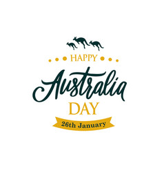 happy australia day greeting banner with kangaroo vector image
