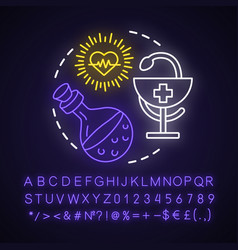Healing spell neon light concept icon witchcraft vector
