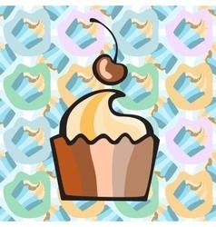Ice cream cake or frozen yogurt seamless vector