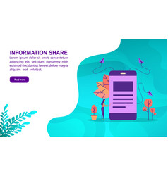 information share concept with character template vector image