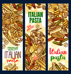 italian pasta sketch banners vector image