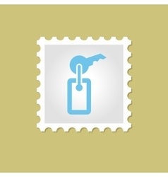 Key stamp vector image
