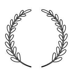 Laurel wreath decorative emblem vector