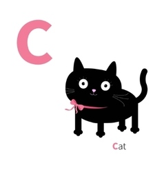 letter c cat zoo alphabet english abc vector image